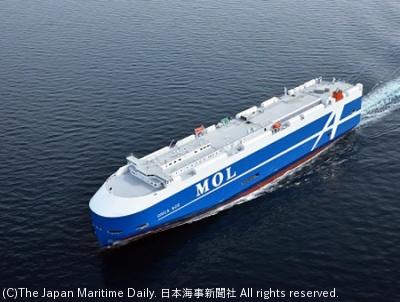 竣工した自動車運搬船「オルカ・エース」
