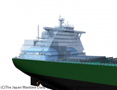 DNV-GL/LNG燃料ケープで成果。デザイン発表。商船三井など共同研究(1面)