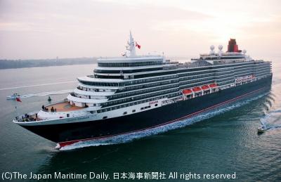 来季の日本寄港を控えて11月から改装されるQE