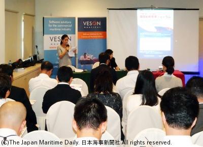 日系海運企業関係者約40人が参加