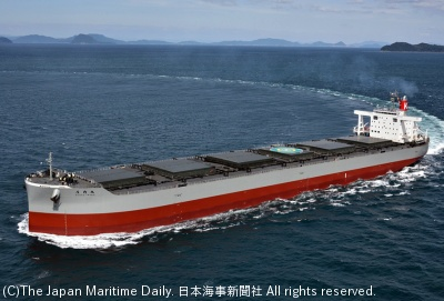 川崎汽船/JERA向け石炭船が竣工。「庄内丸」(1面)