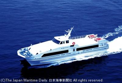神戸-関空間に就航する高速船