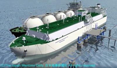 商船三井/ドイツ初のFSRU参画へ。ユニパーと覚書。新造LNG船も整備(1面)