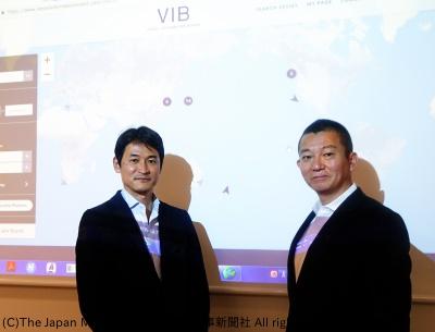 乾社長(右)と小松・海運事業部グループリーダー