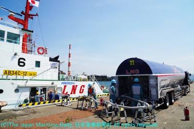 北九州港で15日に行われた実証実験