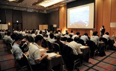 滋賀県内の荷主・物流事業者など多数が参加した説明会