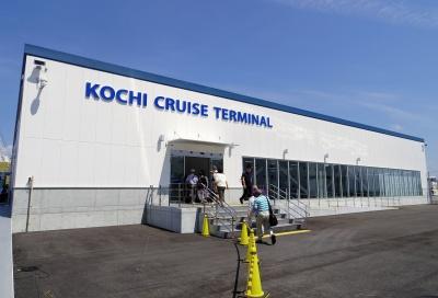 高知新港にオープンした客船ターミナル