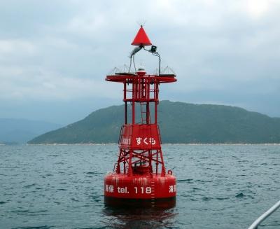 徳山下松港付近の海域に設置されているクラウド化された灯浮標