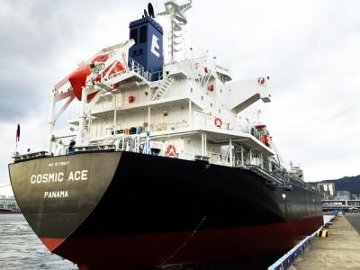 ECL運航の近海貨物船