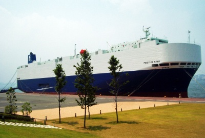 ECL運航の自動車船