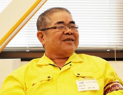 JMU因島工場長・岡野修覚氏