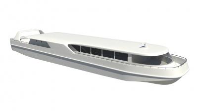 高出力燃料電池を搭載した中型観光船(イメージ図)