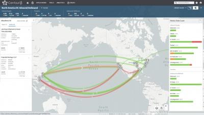 ネクサスのコントロールセンターの画面例。エンド・ツー・エンドのSC情報を直感的に把握できる