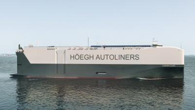 LNG燃料などに対応した次世代自動車船(イメージ)