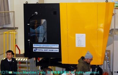 港湾職業能力開発短大神戸校/荷役技能に磨き。Gクレーンシミュレーター完成(4面)