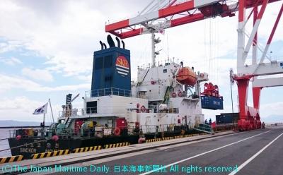 16年8月の新サービス開始第1船。復興支援の側面もあった
