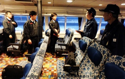 JR九州高速船「ビートル」への立入点検