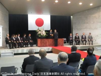 国交省で行われた表彰式