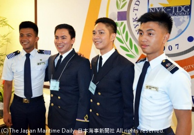 First Officer Gonzales is a member of the first graduating class.(He is the second from the right)