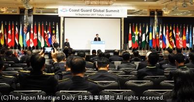東京都内で聞かれた世界海上保安機関長官級会合