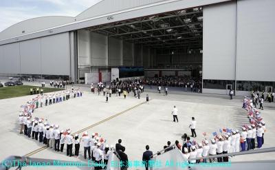 エアバス/天津にデリバリー施設。A330型機の最終工程作業(4面)