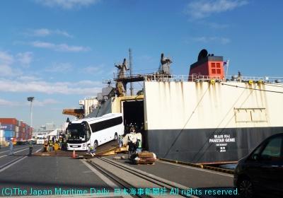 パンスター/新規RORO船、東京に初入港。サービス拡大図る(2面)