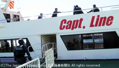 旅客船でのテロリスト捕縛訓練