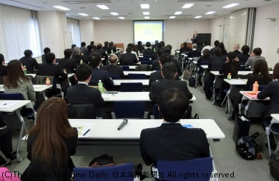 全国35の港から70人を超える関係者が参加した受入港協議会(15日、東京)